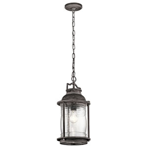 Ashland Bay Weathered Zinc One-Light Outdoor Pendant