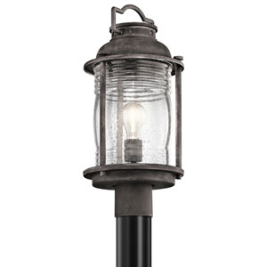 Ashland Bay Weathered Zinc One-Light Post Mount
