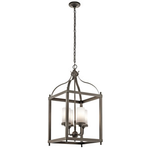 Larkin Olde Bronze Four-Light Outdoor Lantern Pendant