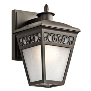 Park Row Olde Bronze 10-Inch One-Light Outdoor Wall Sconce