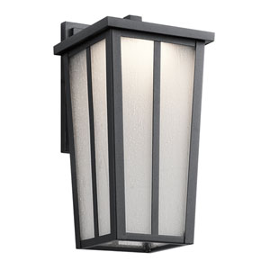 Amber Valley Textured Black 6.5-Inch One-Light Outdoor LED Wall Mount