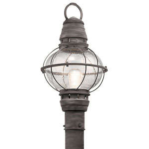 Bridge Point Weathered Zinc One-Light Outdoor Post Lantern