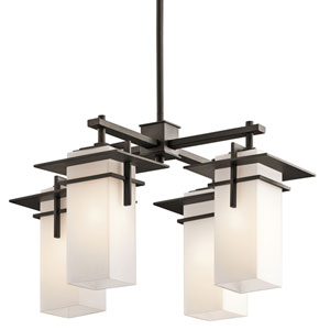 Caterham Olde Bronze Four-Light Indoor/Outdoor Chandelier