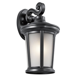 Turlee Black 8-Inch One-Light Outdoor Wall Mount