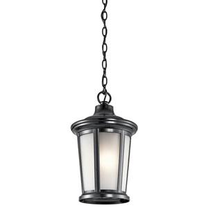 Turlee Black One-Light Outdoor Pendant