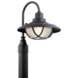 Harvest Ridge Textured Black One-Light Outdoor Post Lantern