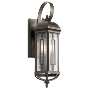 Galemore Olde Bronze 8-Inch Three-Light Outdoor Wall Mount