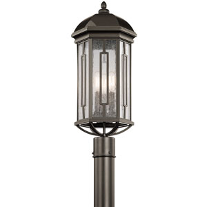 Galemore Olde Bronze Three-Light Outdoor Post Lantern