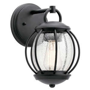 Vandalia Textured Black 7-Inch One-Light Outdoor Wall Light