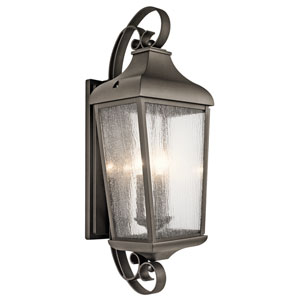 Forestdale Olde Bronze Three-Light Outdoor Wall Sconce