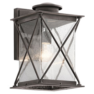 Argyle Weathered Zinc 9-Inch LED One-Light Outdoor Wall Sconce