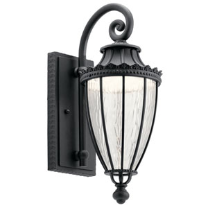 Wakefield Textured Black 7-Inch LED Outdoor Wall Light