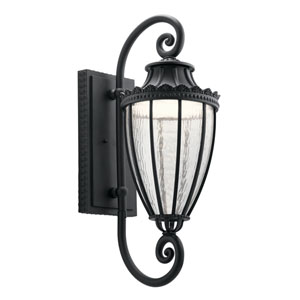 Wakefield Textured Black 11-Inch LED Outdoor Wall Light
