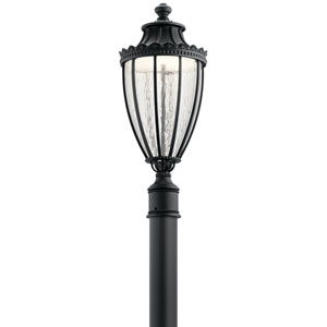 Wakefield Textured Black 11-Inch LED Outdoor Post Lantern