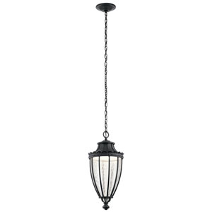 Wakefield Textured Black 11-Inch LED Outdoor Hanging Pendant
