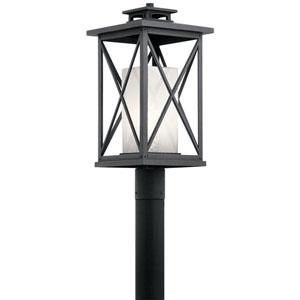 Piedmont Distressed Black 10-Inch One-Light Outdoor Post Lantern