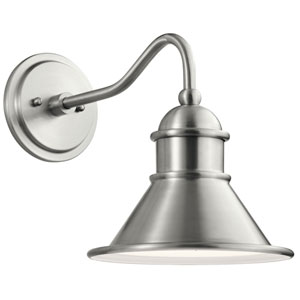 Northland Brushed Aluminum 10-Inch Outdoor Wall Sconce