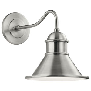 Northland Brushed Aluminum 14-Inch Outdoor Wall Sconce