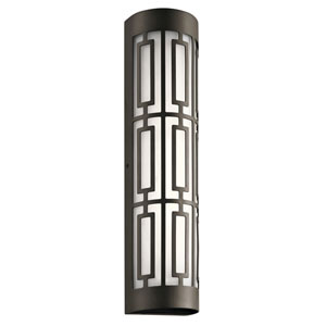 Empire Olde Bronze 5-Inch Two-Light LED Outdoor Wall Light with Glass Shade
