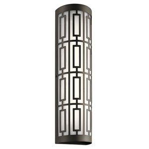 Empire Olde Bronze 6-Inch Two-Light LED Outdoor Wall Light with Glass Shade