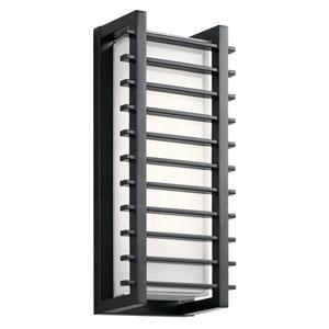 Rockbridge Black 7-Inch Two-Light LED Outdoor Wall Light