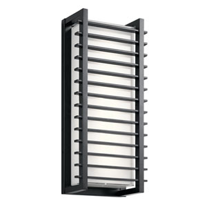 Rockbridge Black 9-Inch Two-Light LED Outdoor Wall Light
