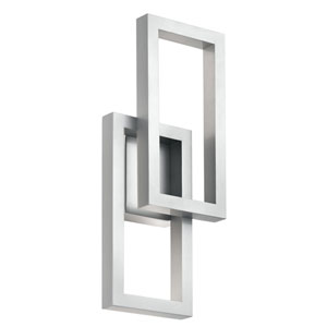 Rettangolo Platinum 8-Inch LED Outdoor Wall Light