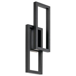 Rettangolo Textured Black 10-Inch LED Outdoor Wall Light