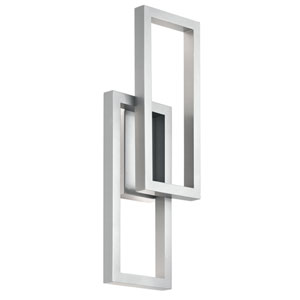 Rettangolo Platinum 10-Inch LED Outdoor Wall Light
