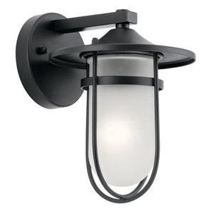 Finn Black 7-Inch One-Light Outdoor Wall Light