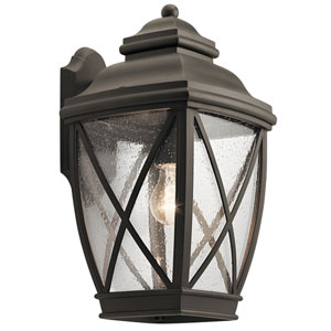 Tangier Olde Bronze 10-Inch One-Light Outdoor Wall Light