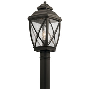 Tangier Olde Bronze 10-Inch One-Light Outdoor Post Lantern