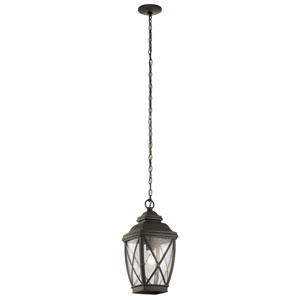 Tangier Olde Bronze 10-Inch One-Light Outdoor Hanging Pendant