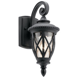 Admirals Cove Textured Black 6-Inch One-Light Outdoor Wall Light