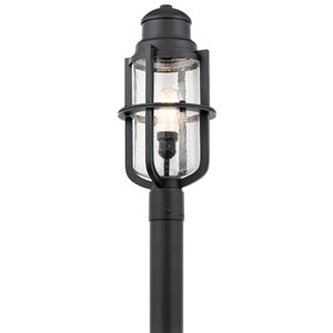 Suri Textured Black Outdoor Post Lantern