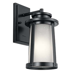 Harbor Bay Black 6-Inch One-Light Small Outdoor Wall Light