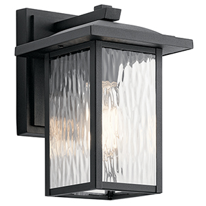 Capanna Textured Black 7-Inch One-Light Small Outdoor Wall Light
