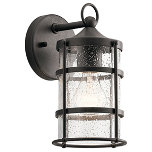 Mill Lane Anvil Iron 6-Inch One-Light Small Outdoor Wall Light