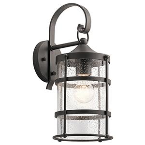 Mill Lane Anvil Iron 7-Inch One-Light Medium Outdoor Wall Light