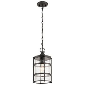 Mill Lane Anvil Iron 9-Inch One-Light Outdoor Hanging Mini Pendant