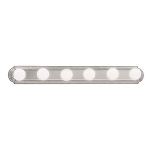 Brushed Nickel Six-Light Bath Fixture