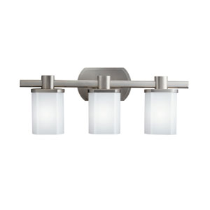 Legé Brushed Nickel Three-Light Bath Fixture