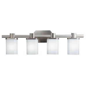 Legé Brushed Nickel Four-Light Bath Fixture