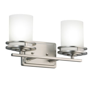 Hendrik Brushed Nickel Two-Light Wall Sconce