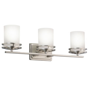 Hendrik Brushed Nickel Three-Light Wall Sconce
