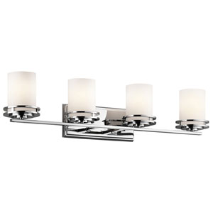 Hendrik Chrome Four-Light Wall Mounted Bath Fixture