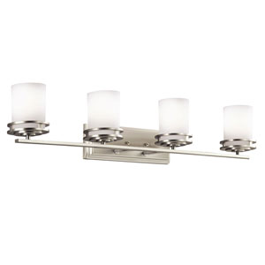 Hendrik Brushed Nickel Four-Light Wall Sconce