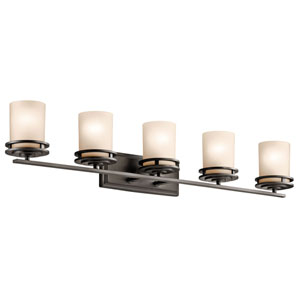 Hendrik Olde Bronze Five Light Wall Bath Bar