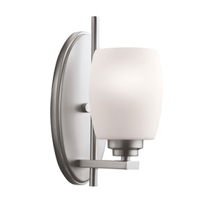 Eileen Brushed Nickel Single Light Wall Sconce