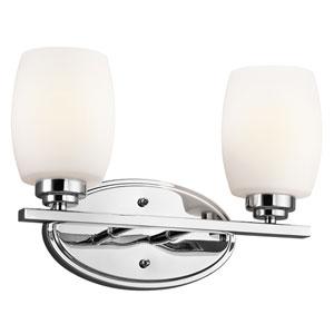 Eileen Chrome LED Two-Light Bath Sconce